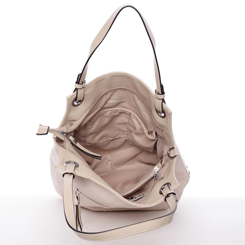 Stylová dámská kabelka přes rameno Venus, béžová