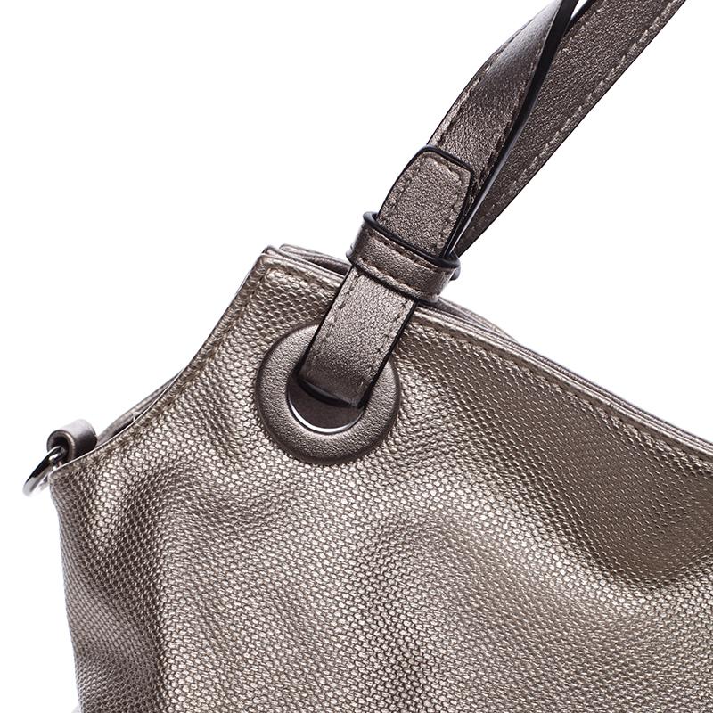 Stylová dámská kabelka přes rameno Venus, stříbrná