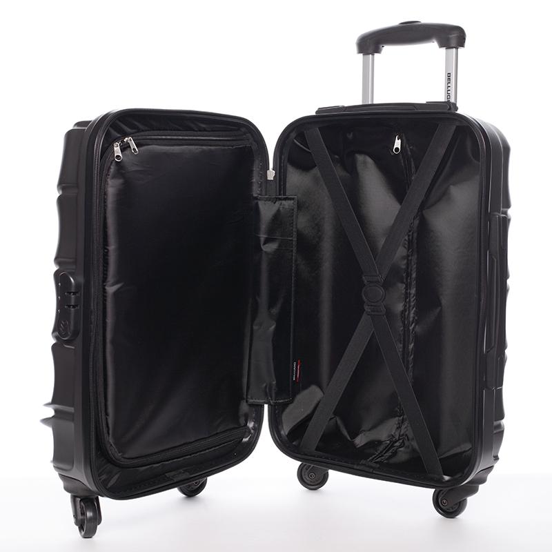 Cestovní kufr Bellugio Carla I, 4. kolečka, černý