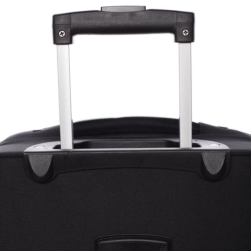 Kvalitní látkový kufr Bellugio Candelaria II,  4.kolečka, černý