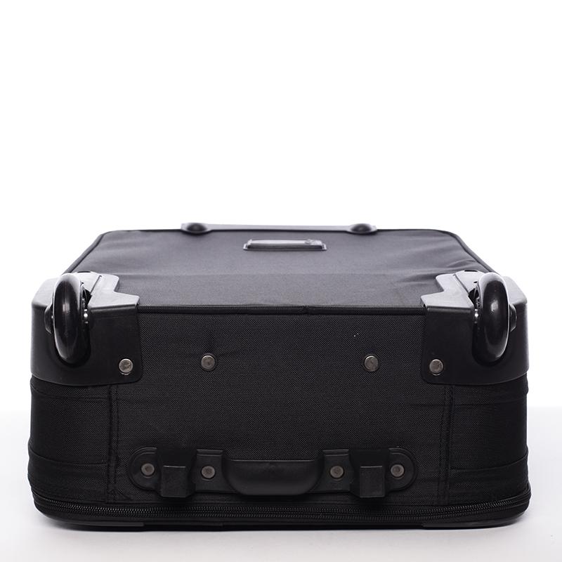 Kvalitní látkový kufr Bellugio Candelaria III,  4.kolečka, černý