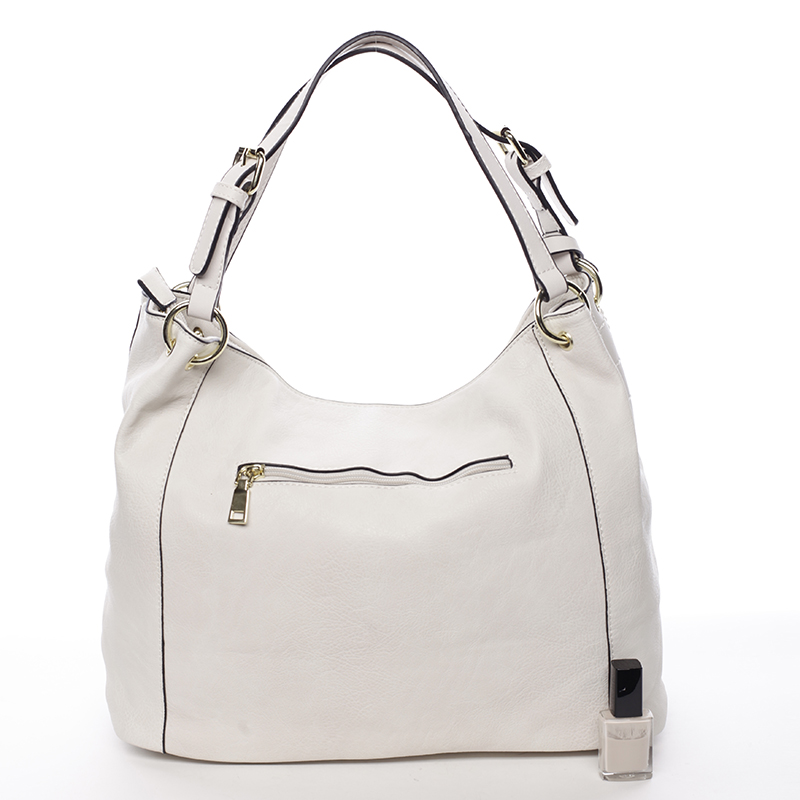 Dámská měkká kabelka Selena, béžová