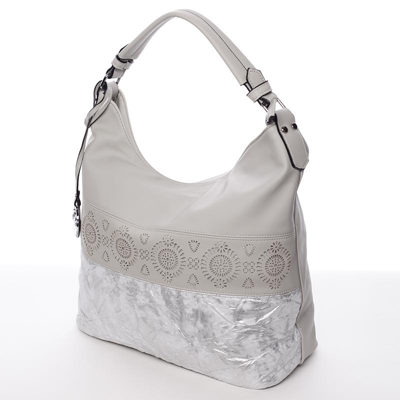 Moderní a stylová kabelka Mc Mary Raquel, šedá