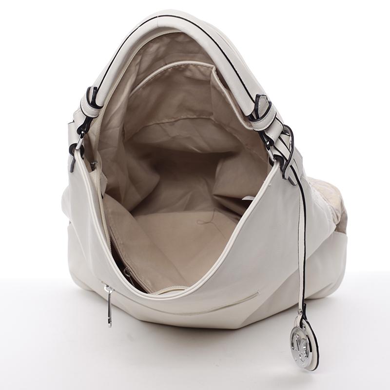Moderní a stylová kabelka Mc Mary Raquel, béžová