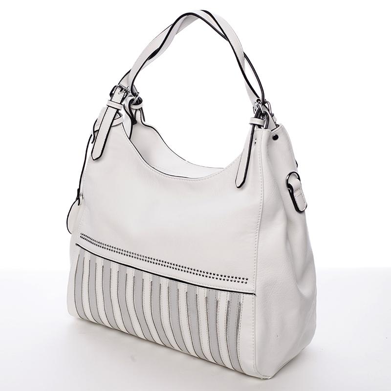 Dámská módní kabelka přes rameno Nazarena, bílá