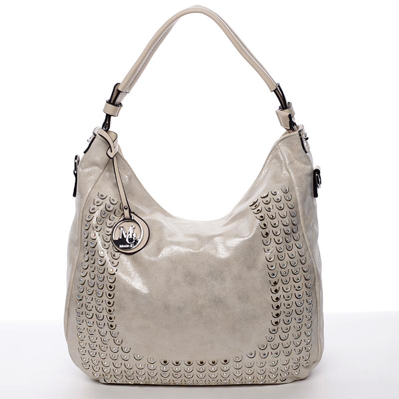 Extravagantní a luxusní kabelka Maya, krémová