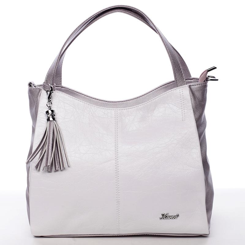 Dásmká luxusní kabelka Karen Margot, bílá