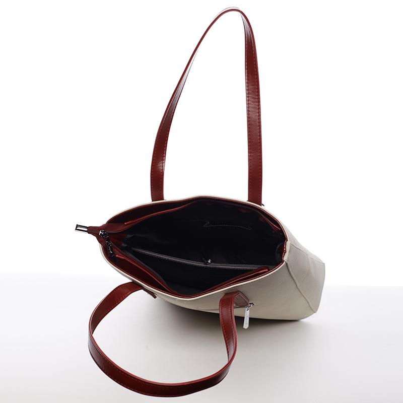 Stylová kabelka Karen Stella, béžová