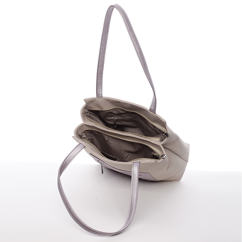 Luxusní kabelka přes rameno Karen Gloria, béžová