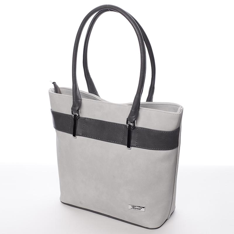 Moderní kabelka Karen Gerda, šedá
