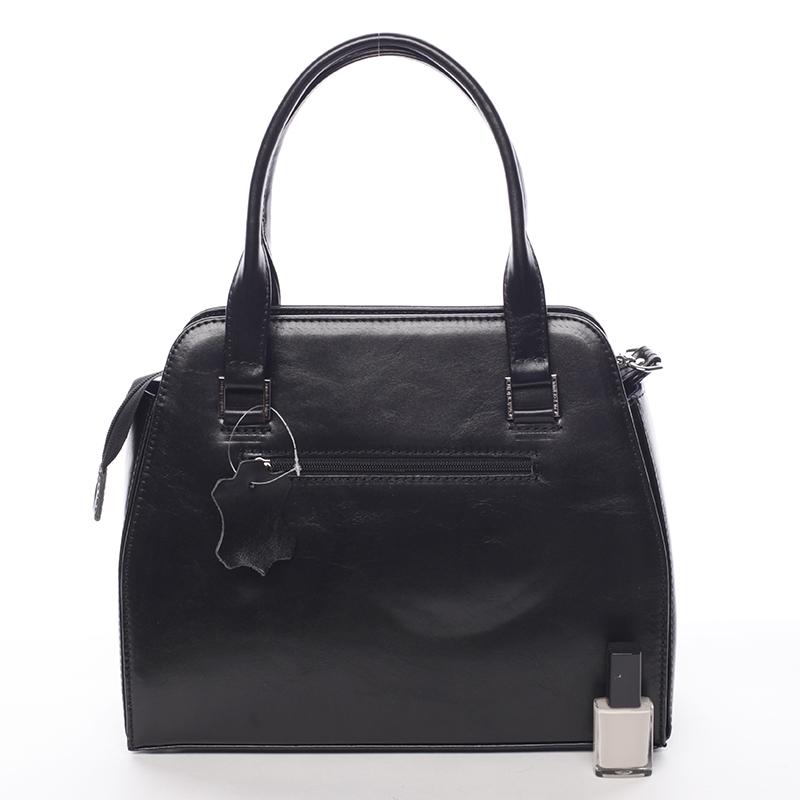 Kožená luxusní kabelka Annie Claire, černá