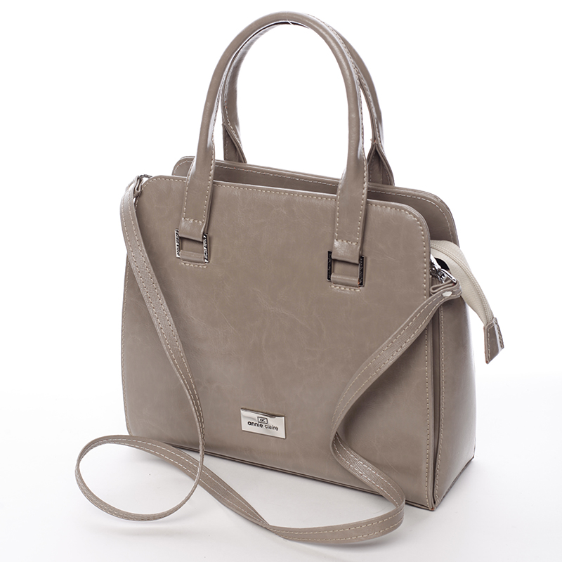 Dámská kožená kabelka Annie Claire Marilú, cappucino