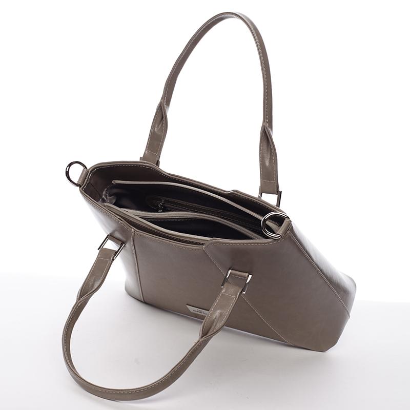 Luxusní kožená kabelka Annie Claire Mariangeles, cappucino