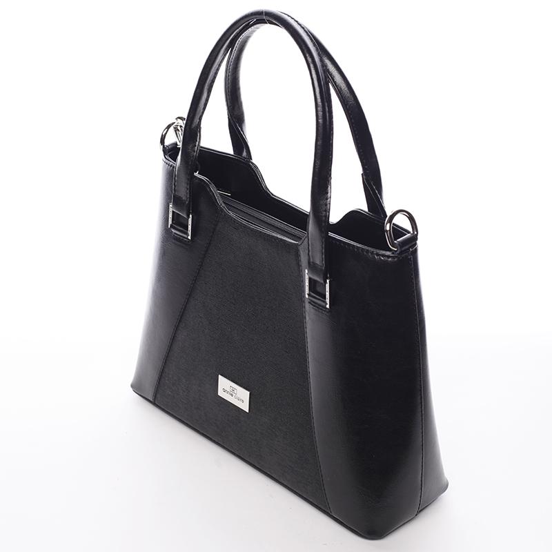 Luxusní kožená kabelka Annie Claire Mariangeles, černá