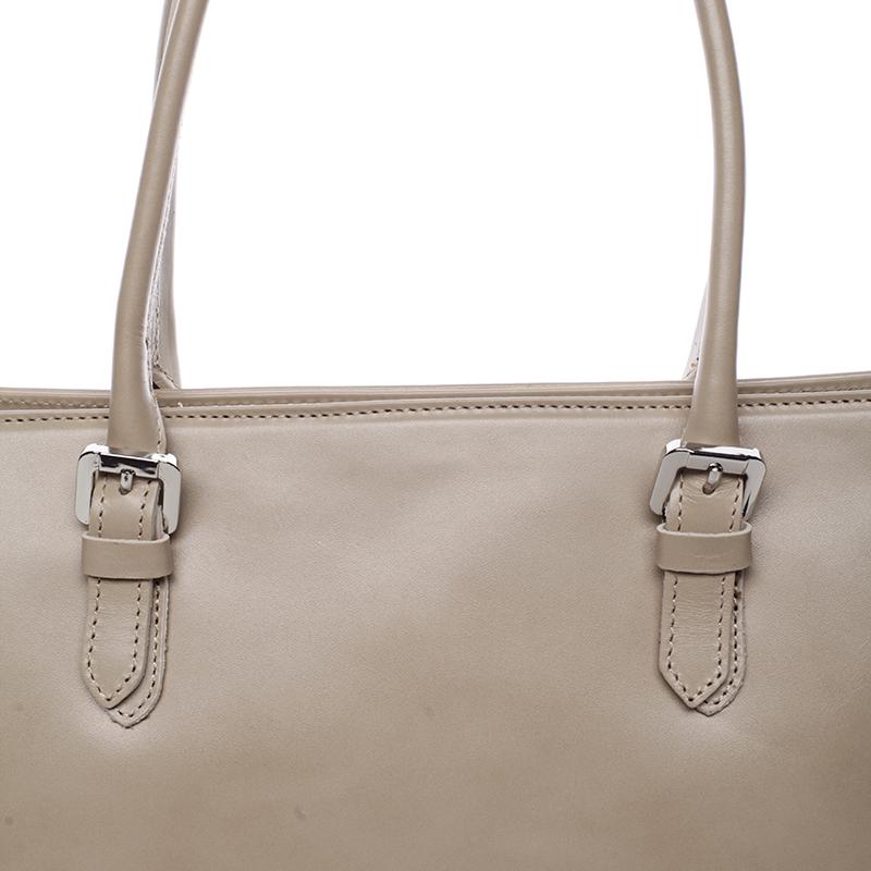 Elegantní kabelka z kůže Libertad, tmavě béžová