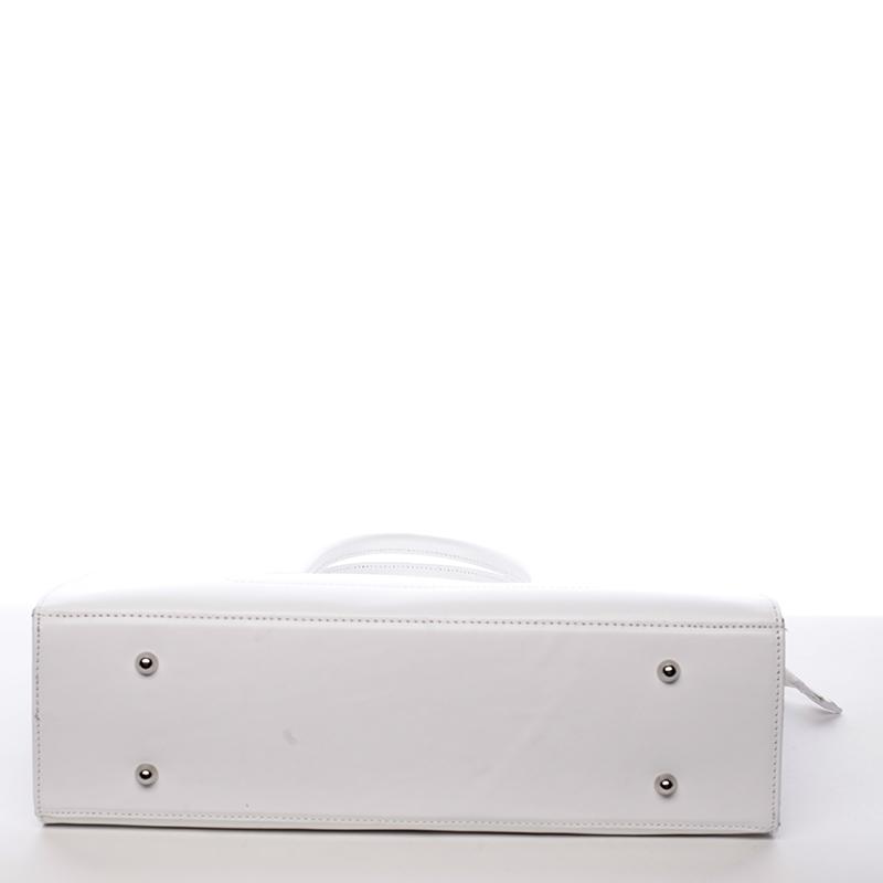 Elegantní kabelka z kůže Libertad, bílá