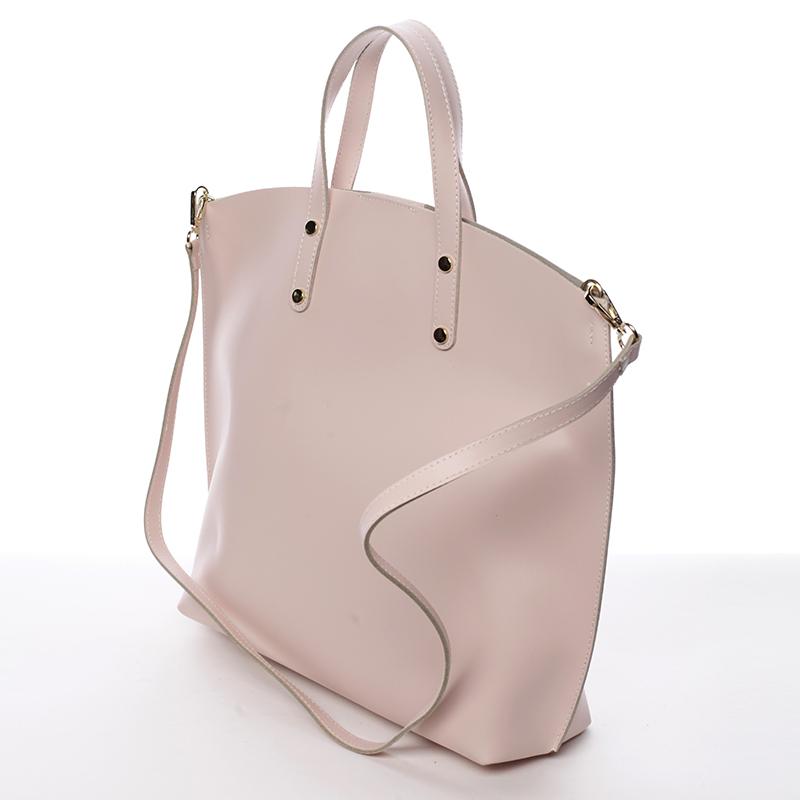 Atraktivní kožená kabelka Bailey, růžová