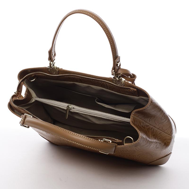 Luxusní kožená kabelka se vzory Raina, cuio