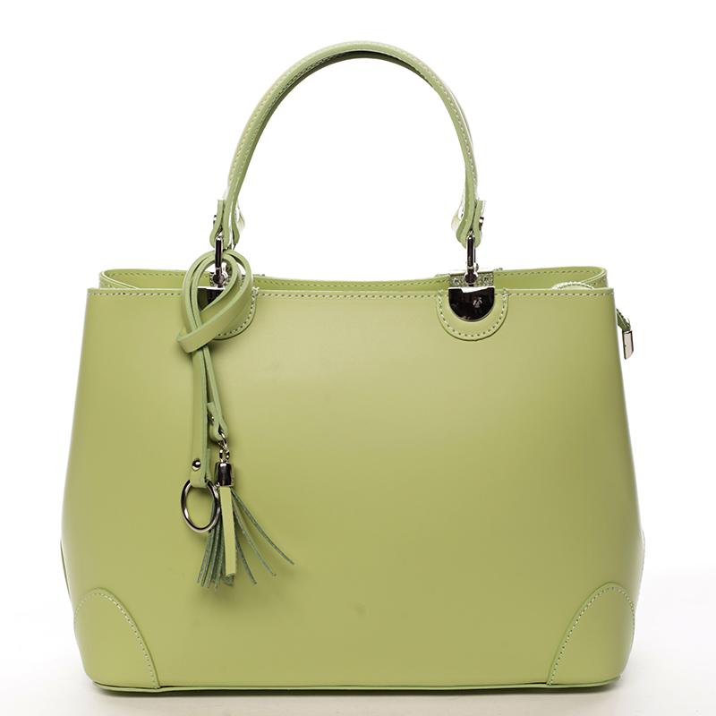 Luxusní kožená kabelka se vzory Raina, zelená