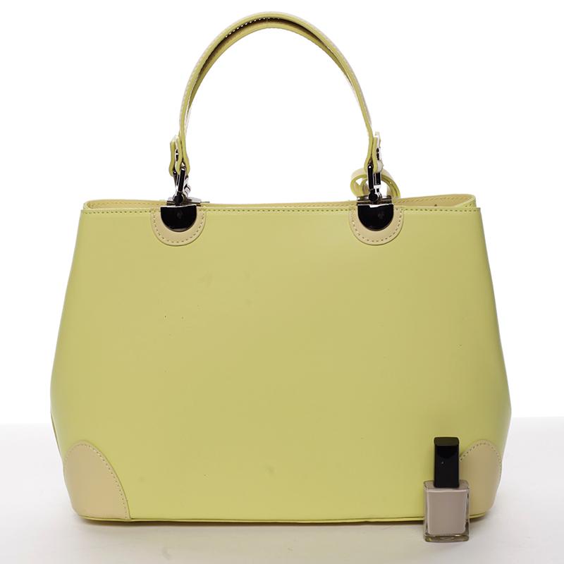 Luxusní kožená kabelka se vzory Raina, žlutá