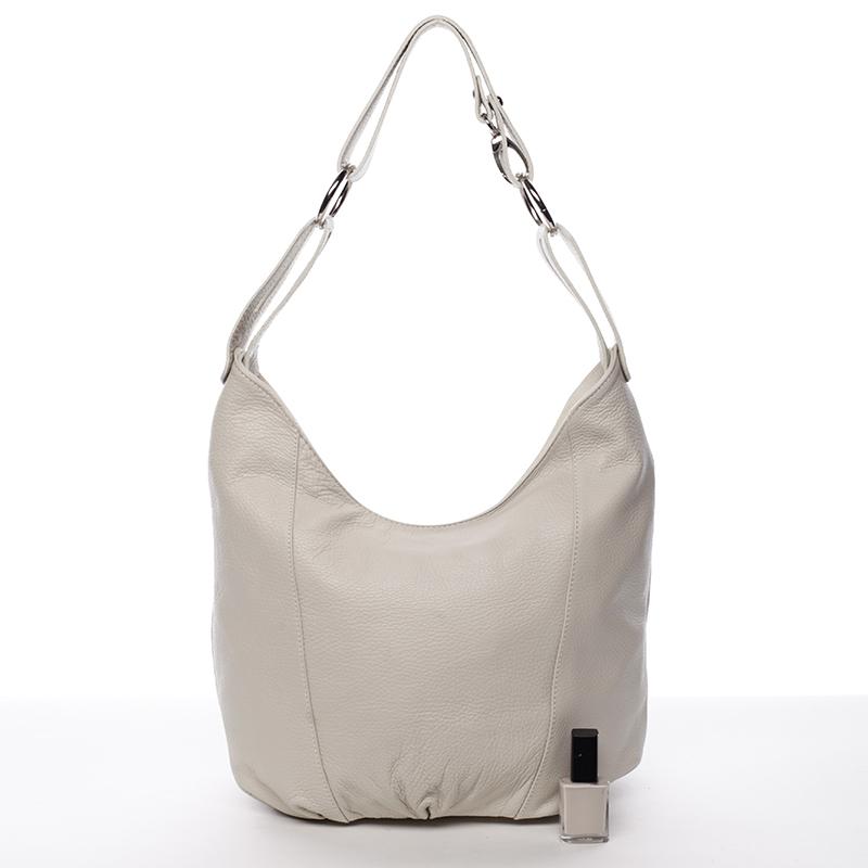 Dámská stylová kabelka přes rameno Cristal, krémová