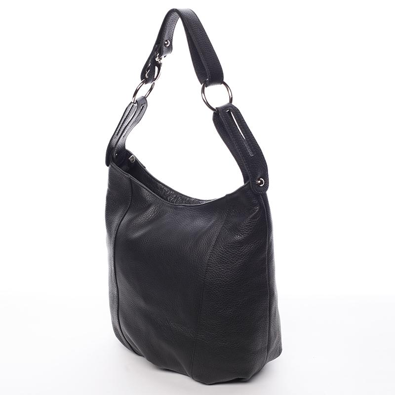 Dámská stylová kabelka přes rameno Cristal, černá