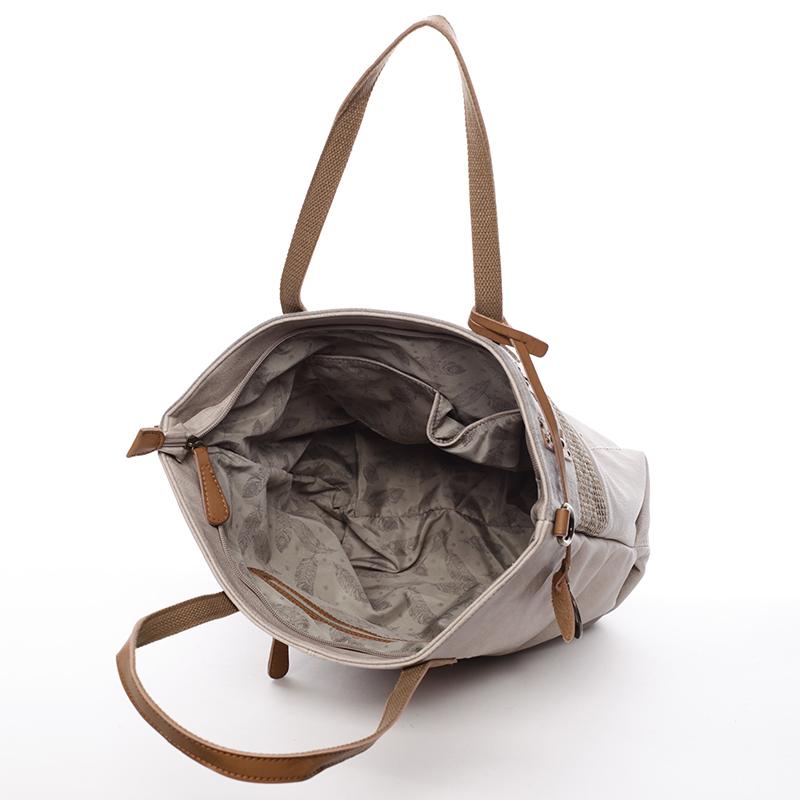 Módní kabelka Mc Mary Isadora, oříšková
