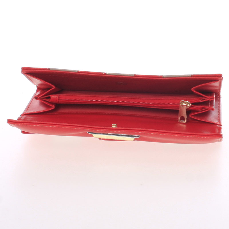 Dámská luxusní peněženka Dudlin Calíope, červená
