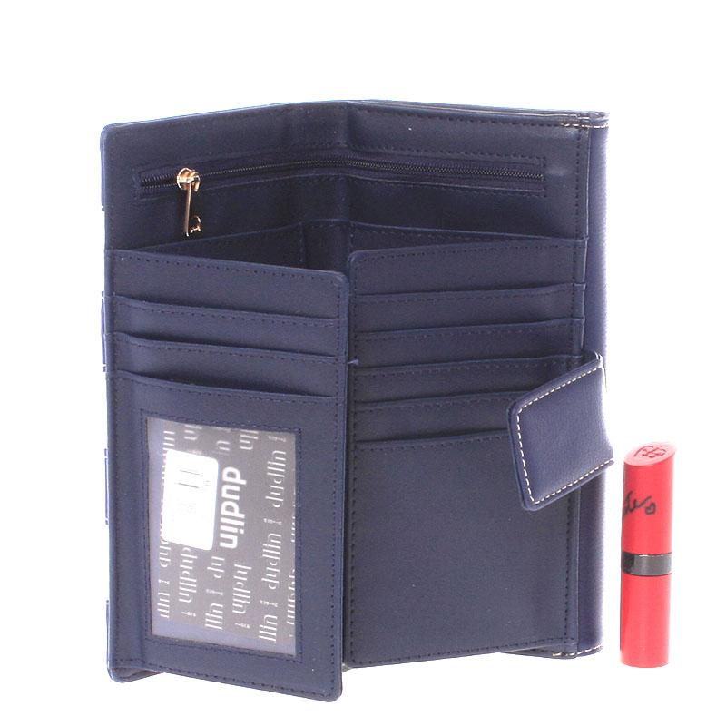 Dámská luxusní peněženka Dudlin Calíope, tmavě modrá