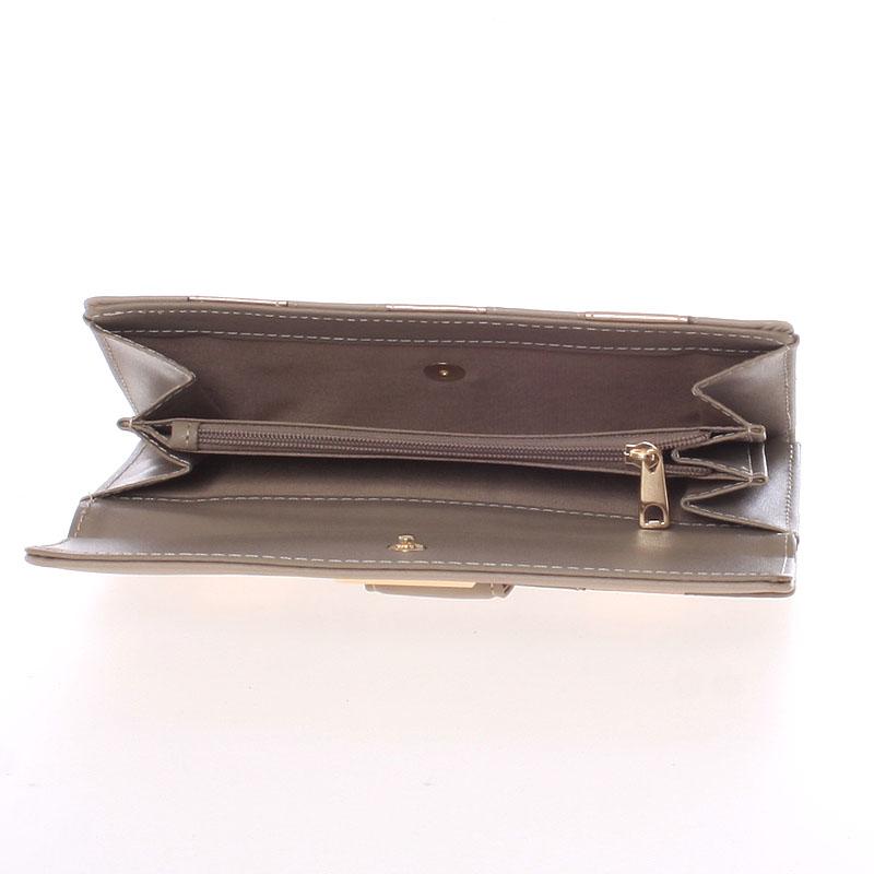 Dámská luxusní peněženka Dudlin Calíope, meruňková