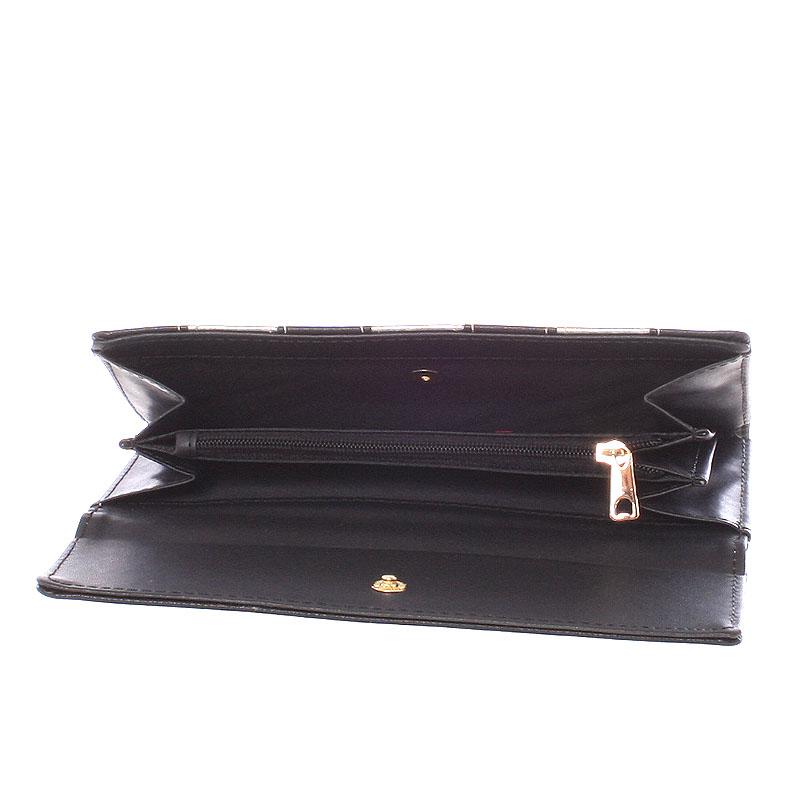 Dámská luxusní peněženka Dudlin Calíope, černá