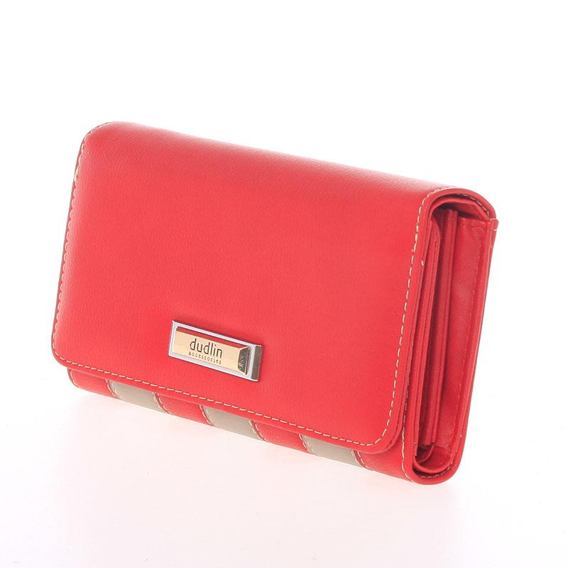 Originální peněženka Dudlin Brunela, červená