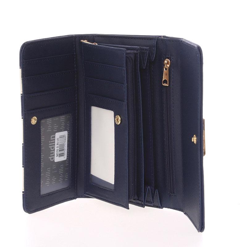 Originální peněženka Dudlin Brunela, tmavě modrá