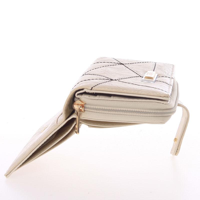 Dámská prošívaná peněženka Dudlin Brita, béžová