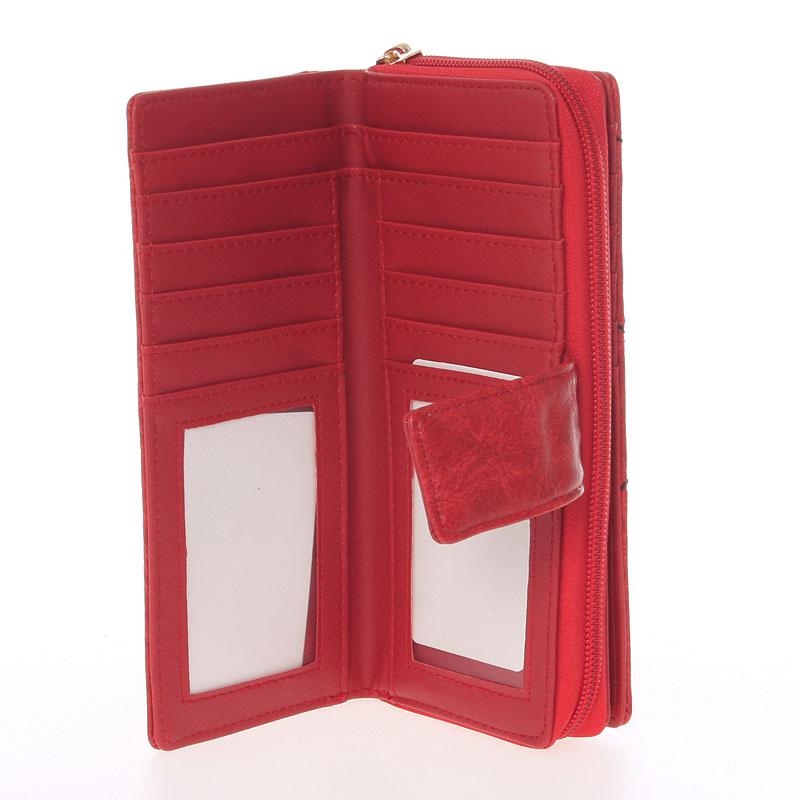 Dámská prošívaná peněženka Dudlin Brita, červená