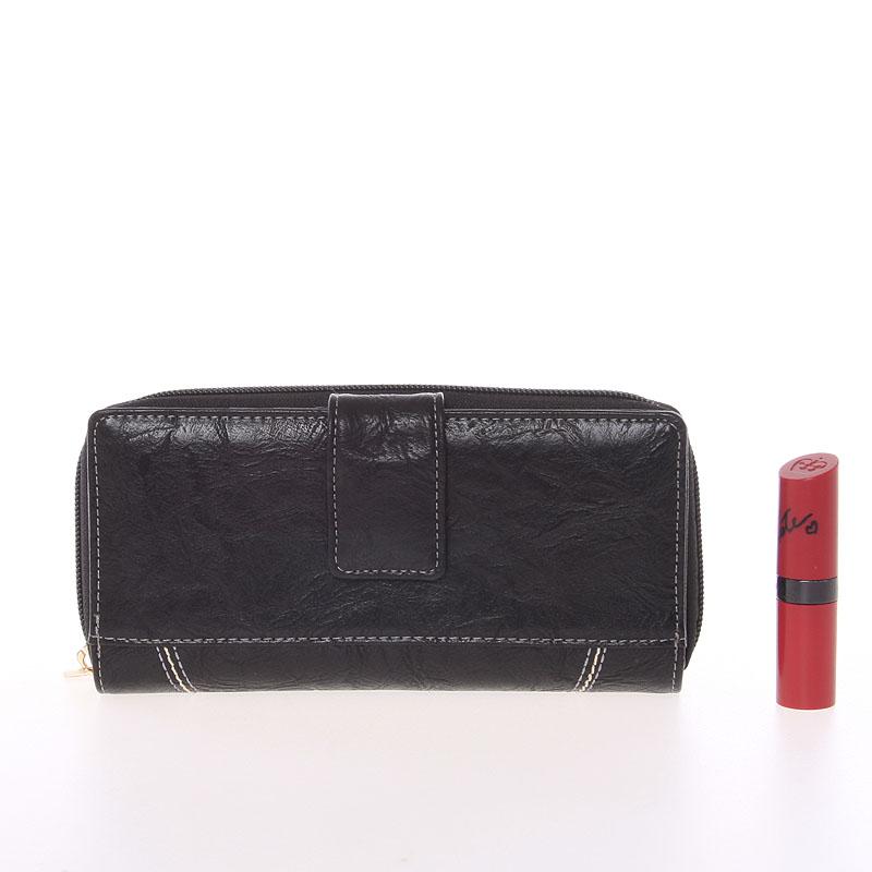 Dámská prošívaná peněženka Dudlin Brita, černá