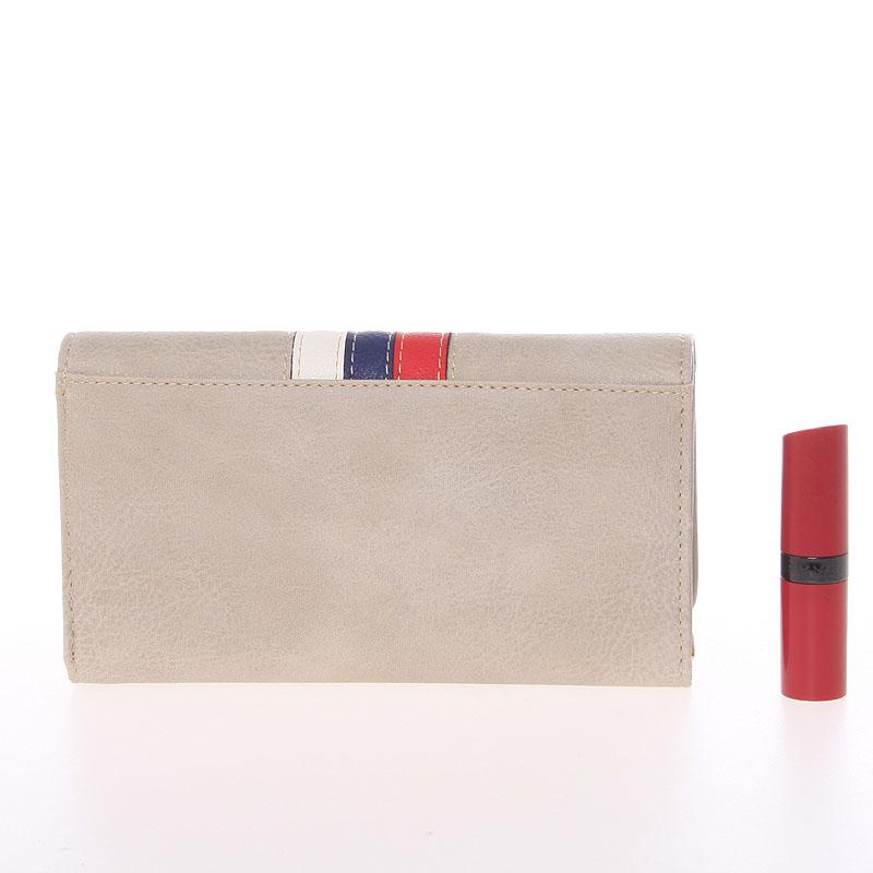 Stylová dámská peněženka Dudlin Brisa, světle šedá