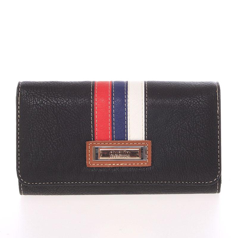 Stylová dámská peněženka Dudlin Brisa, černá