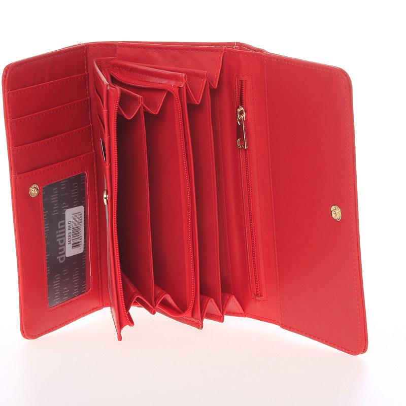 Stylová dámská peněženka Dudlin Brisa, červená