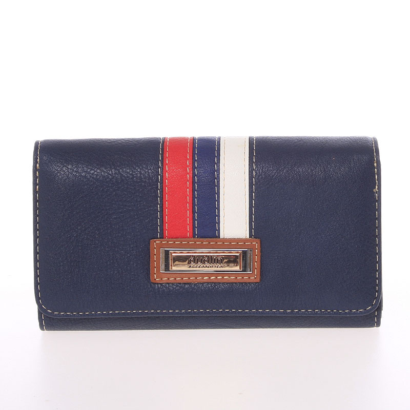Stylová dámská peněženka Dudlin Brisa, tmavě modrá