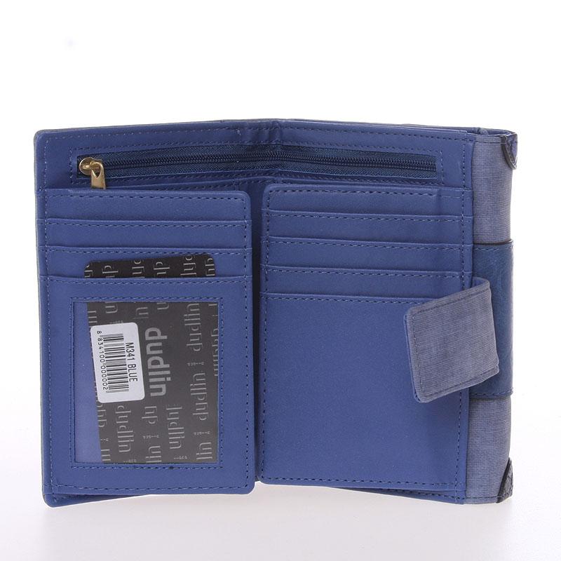 Dámská elegantní peněženka Dudlin Brenda, modrá