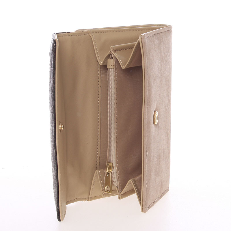 Dámská elegantní peněženka Dudlin Brenda, světle oříšková