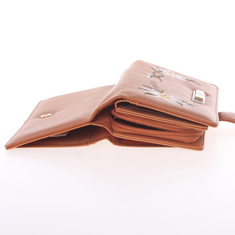 Luxusní prostorná peněženka Dudlin Betania, cihlová