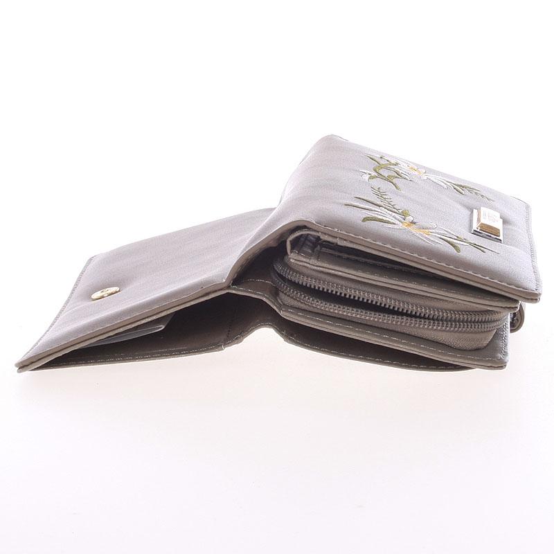 Luxusní prostorná peněženka Dudlin Betania, tmavě šedá