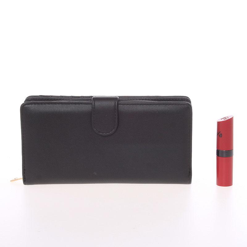 Luxusní prostorná peněženka Dudlin Betania, černá