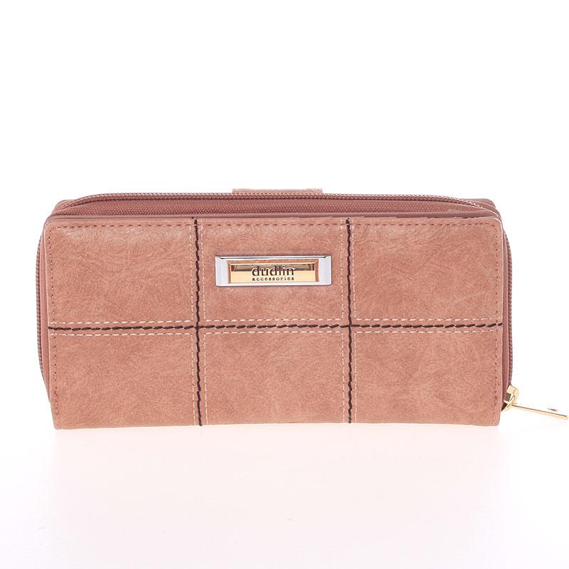Luxusní peněženka Dudlin Bella, růžová