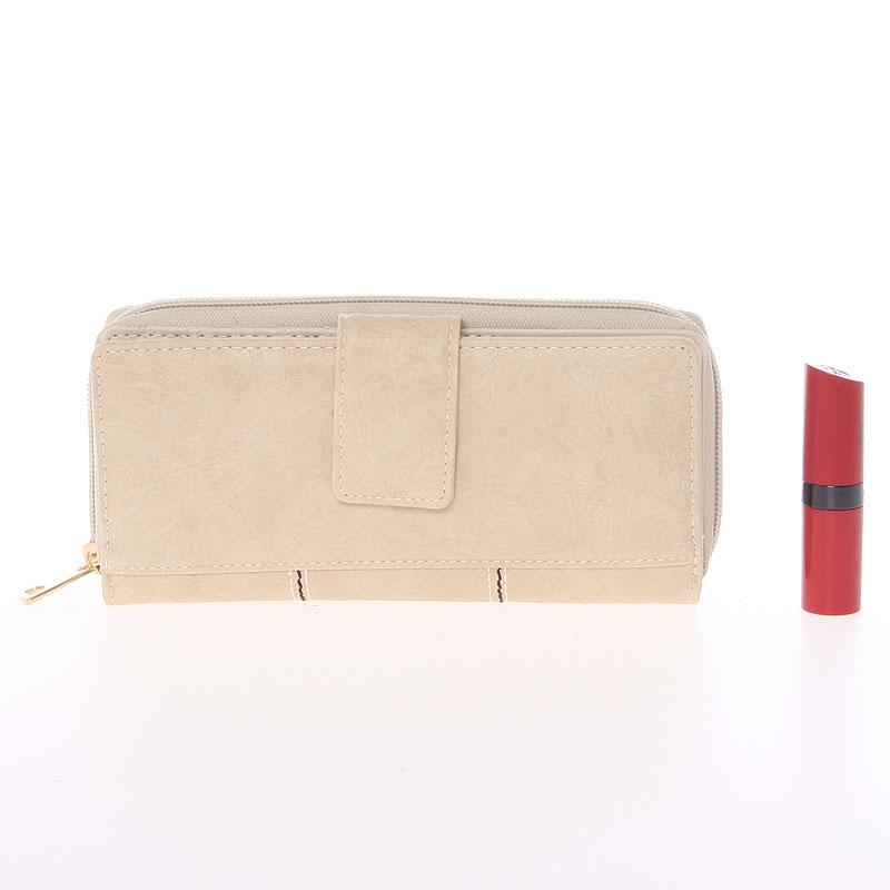 Luxusní peněženka Dudlin Bella, béžová