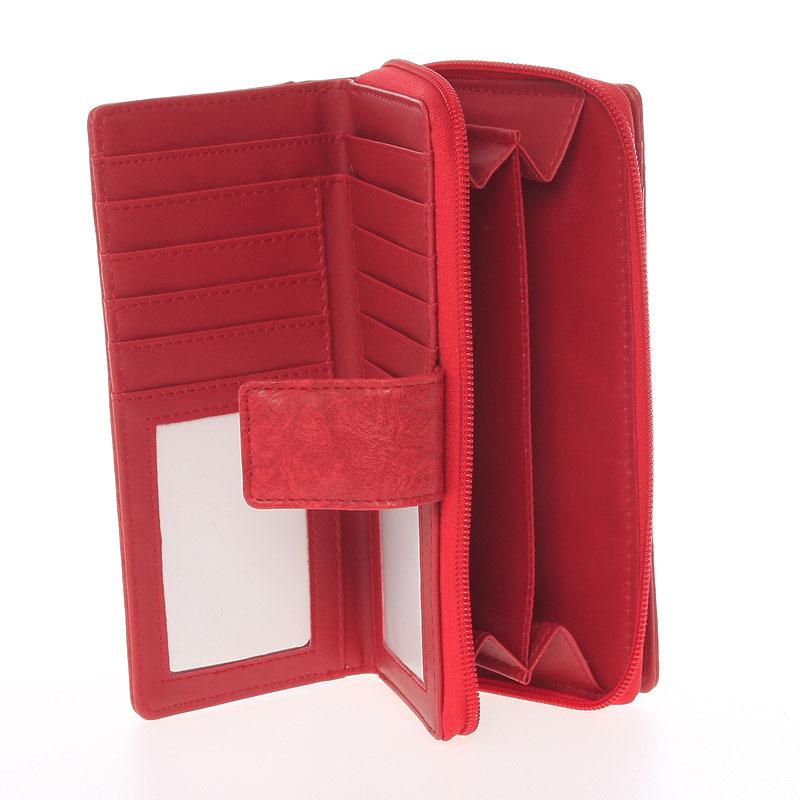 Luxusní peněženka Dudlin Bella, červená
