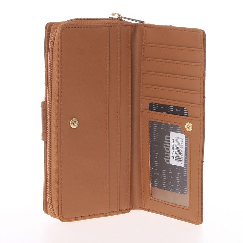 Luxusní peněženka Dudlin Bella, hnědá