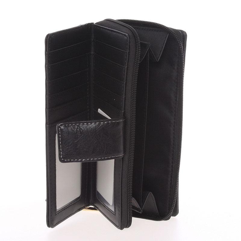 Luxusní peněženka Dudlin Bella, černá